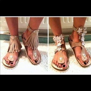 Birkenstock $200 gizeh ankle wrap sandals 7 37